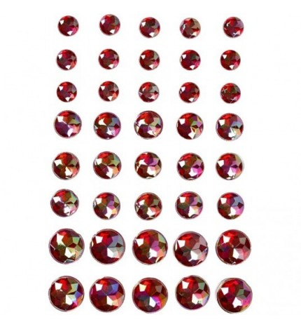 Rhinestone stickers red