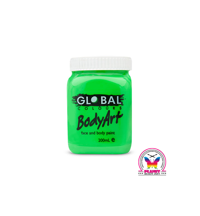 Body Art Fluo Green by Global Colours