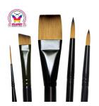 Set of 7 round brushes Royal Majestic
