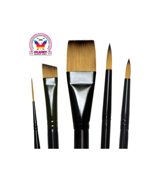 Set of 7 round brushes Royal Majestic