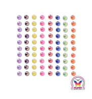 "Body jewel pearls Rainbow "" 6mm"""