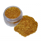 Gold cosmetic glitter