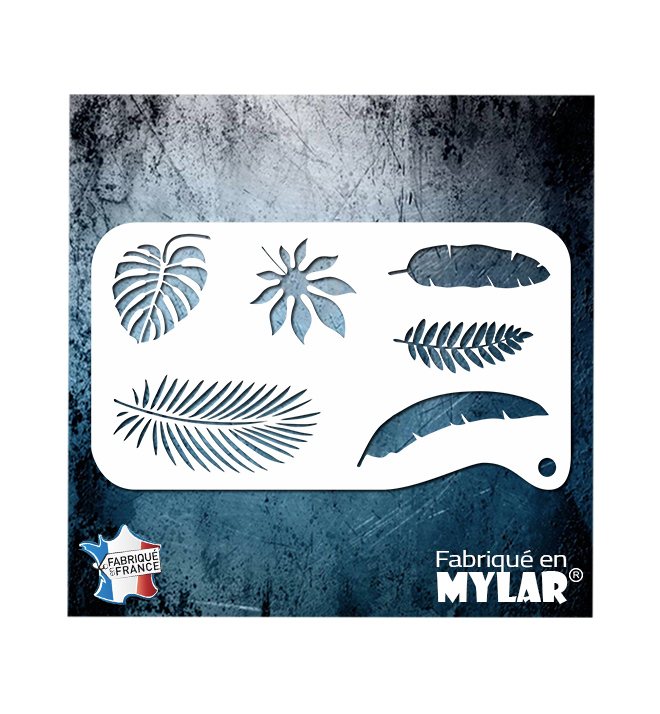Stencil combi tropical leaves