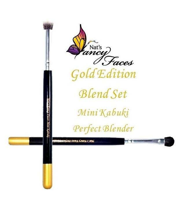 Set de 2 pinceaux Nat's Fancy Faces Gold Edition